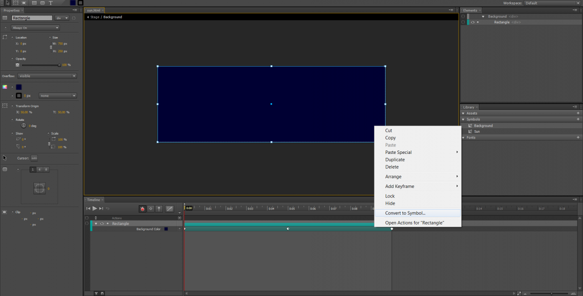 Adobe Edge Animate Tutorial: Animazione di Simboli #2