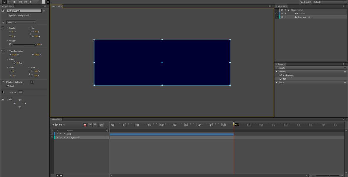 Adobe Edge Animate Tutorial: Symbol Animation #4