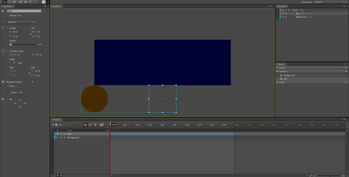 Adobe Edge Animate Tutorial: Symbol Animation #5
