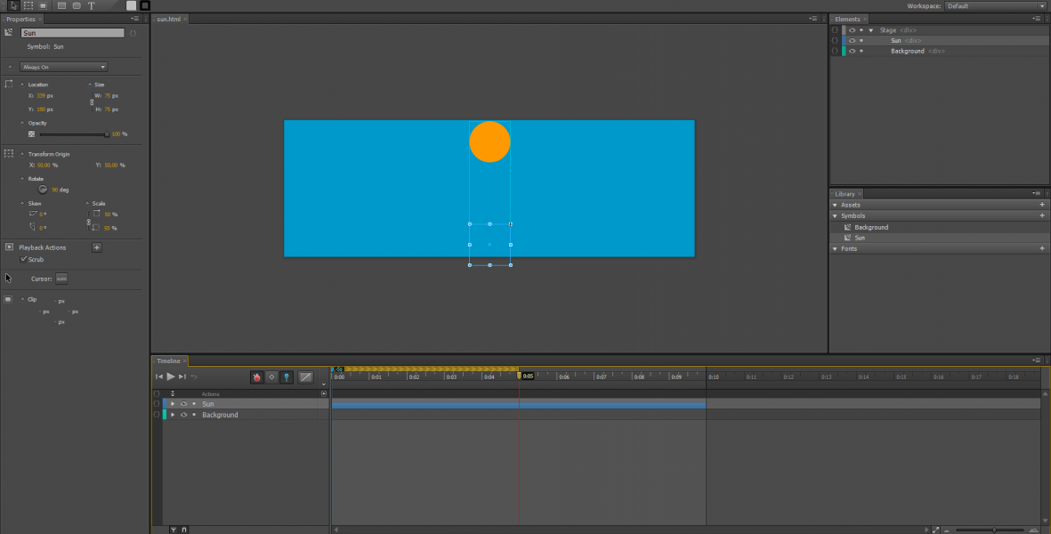 Adobe Edge Animate Tutorial: Animazione di Simboli #6