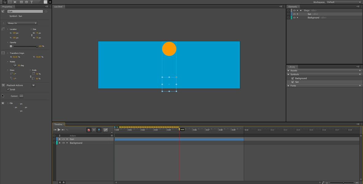 Adobe Edge Animate Tutorial: Symbol Animation #6