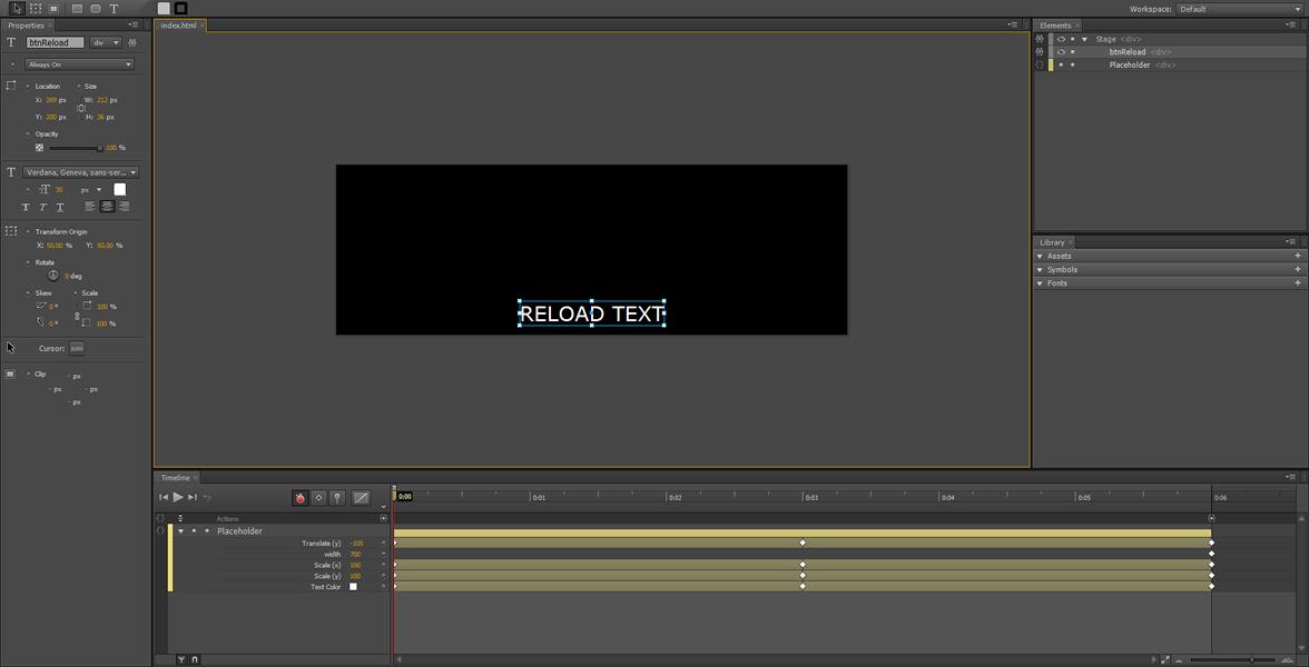 Adobe Edge Tutorial: contenuto dinamico utilizzando Ajax #2