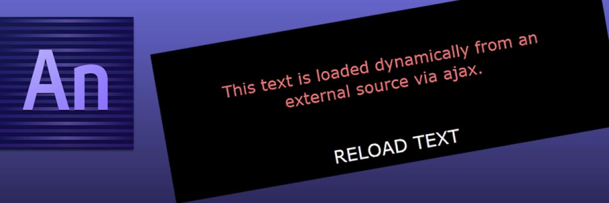 Edge Animate Tutorial: Dynamic Content using Ajax