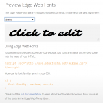 Web Fonts in Edge Animate - Edge Web Fonts #1