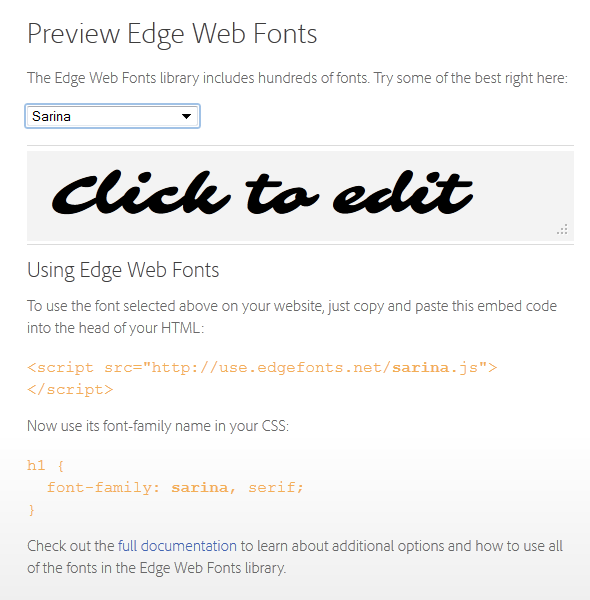 Web Font in Edge Animate - Edge Web Fonts #1
