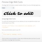 Web Fonts in Edge Animate - Edge Web Fonts #1