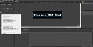 Web Fonts in Edge Animate - Edge Web Fonts #3