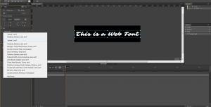 Web Fonts in Edge Animate - Edge Web Fonts #3