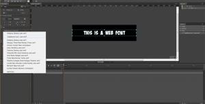 Web Fonts in Edge Animate - Typekit #4