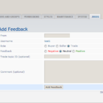 MOD phpBB 3.0.x - ShMk User feedback - ACP - Aggiunta feedback