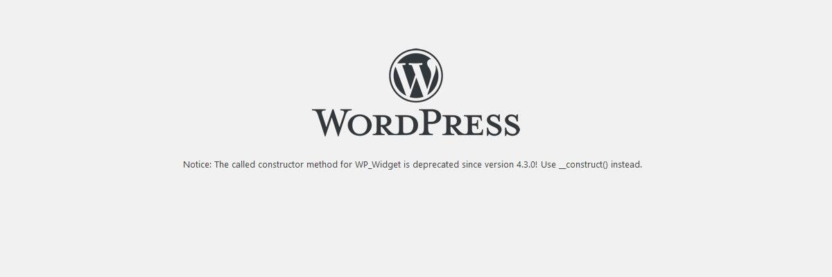 WP_Widget is deprecated since version 4.3.0